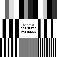 Set of stripped seamless patterns