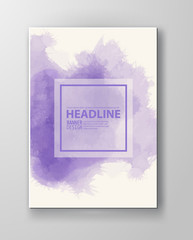Watercolor purple color design banner