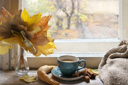 Cozy autumn still life