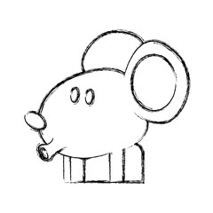 Cute mouse cartoon icon vector illustration graphic dsign