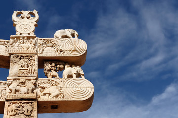 Photo sur cadre textile Monument Sanchi stupa in India