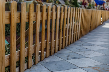 Wooden fence surrounding a  manger