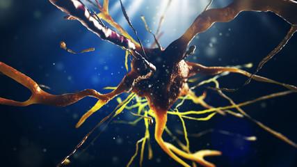 3d illustration of neural cell