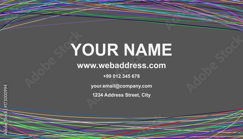 Color business card template design vector id card graphic with color business card template design vector id card graphic with curves on grey background reheart Choice Image