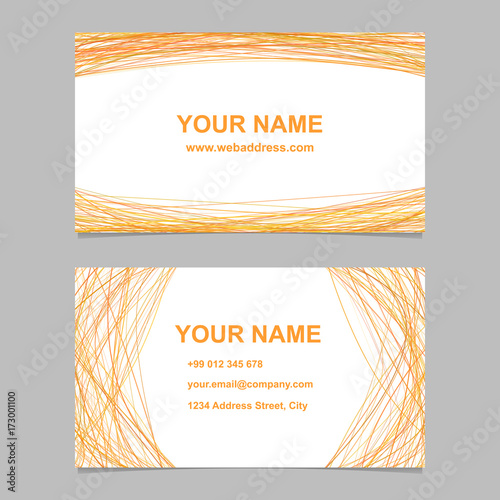 Colored Business Card Template Design Set