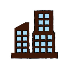Urban city buildings icon vector illustration graphic dsign