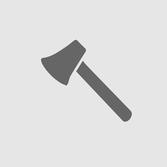 Axe vector icon eps 10. Simple isolated pictogram.