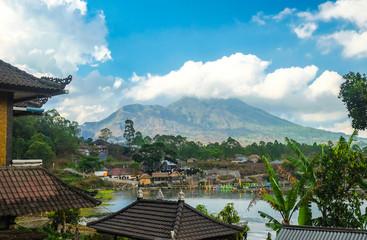 Kintamani volcano and lake, view from  Kabupaten Bangli Village