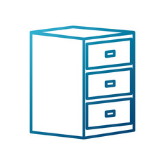 Wooden drawer isolated icon vector illustration graphic dsign
