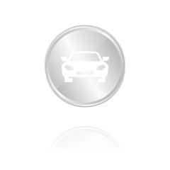 Auto - Silber Münze mit Reflektion