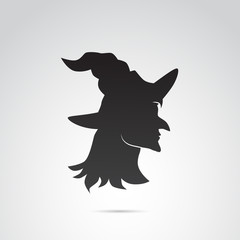 Witch vector icon.