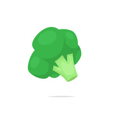 Broccoli vector isolated illustration