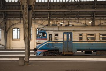 Passenger platform Lviv-Holovnyi, the main railway terminal in Lviv, Ukraine