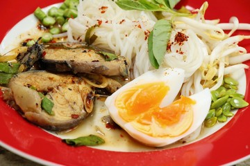 Rice noodles and spicy fish boiled pot