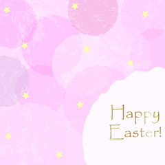 Happy Easter Greeting Card. Vector Illustration