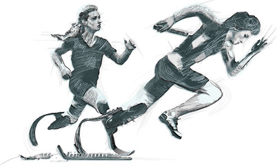 Athletes with physical disabilities - SPRINT, RUNNING