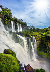 Stores photo Cascade Waterfalls Iguazu, Argentina