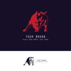 silhouette bull logo