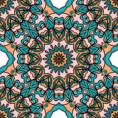 Garden Poster Moroccan Tiles Seamless floral pattern. Vintage decorative elements. Hand drawn background. Perfect for printing on fabric or paper. vector illustration