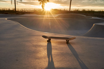 Skate park at sunrise