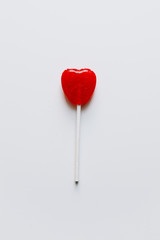 Valentine's heart candy lollipop