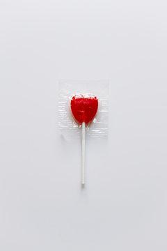 Valentine's heart candy lollipop