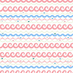 seamless colorful wave pattern background