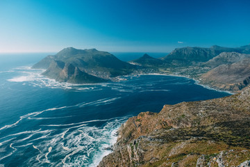 Landscape of Hout Bay in Cape Town