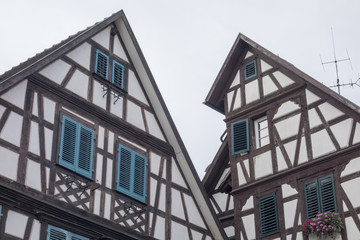 GENGENBACH, BADEN-WURTTEMBERG/ GERMANY - AUGUST 16, 2017: Medieval town centre with characteristic half-timbered houses