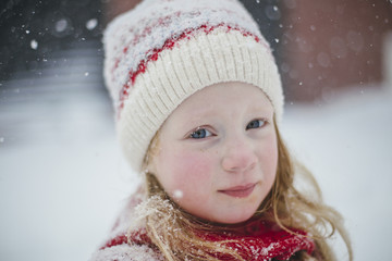 Portrait of A Little Girl in a Blizzard