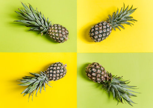 Pineapple simple background