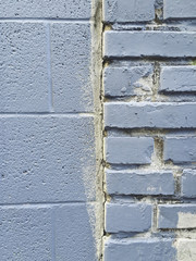 Detail of painted brick wall