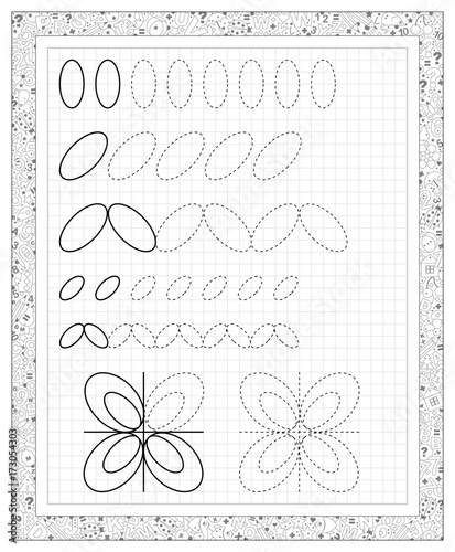Black and white worksheet on a square paper with exercises for ...