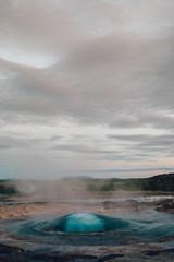 An Iceland Geyser Erupts