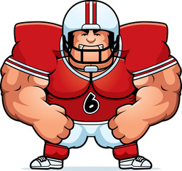 Angry Cartoon Football Player
