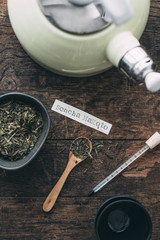 Food: Japanese green tea (Sencha Makoto)