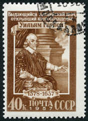 USSR - 1957: shows William Harvey (1578-1657), physician
