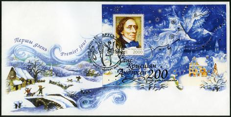 BELARUS - 2005: shows Hans Christian Andersen (1805-1875), writer