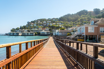 sausalito beautiful town near san francisco bay