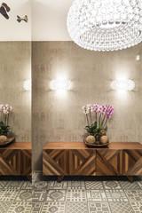 Modern vestibule in contemporary interior