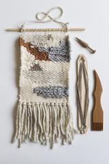 Wall weaving and wood tools