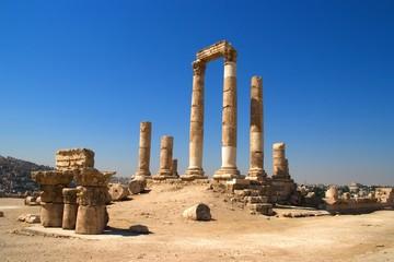 Temple of Hercules of the Amman Citadel complex (Jabal al-Qal'a), Amman, Jordan.