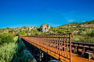 Le pont du chemin de fer au dessus de l'Agly