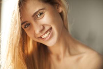 Cute girl smiling