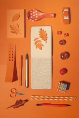 Doodle and orange objects...