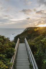 Boardwalk down To Beach Block Island, Rhode Island