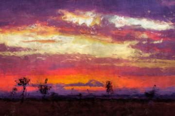 Sunrise over the Mara digital painting