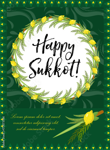 Happy sukkot flyer posters invitation sukkot template for your happy sukkot flyer posters invitation sukkot template for your design greeting card and m4hsunfo