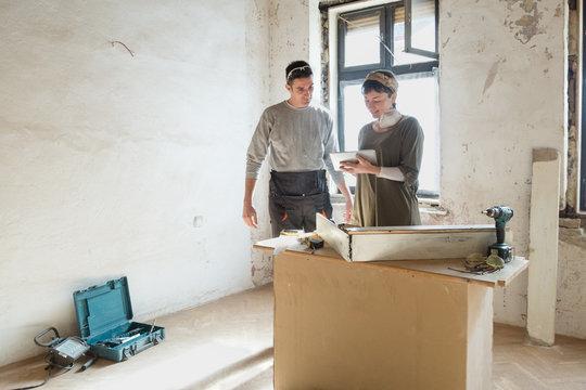 Couple renovate their apartment
