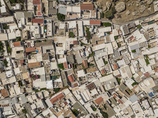 Aerial view of Lindos, Rhodes island, Greece